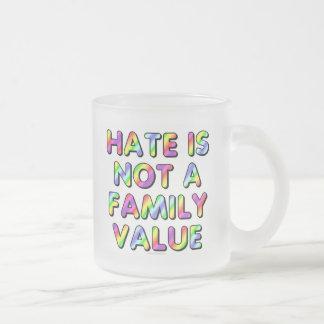 El odio no es un valor familiar taza de cristal