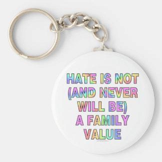 El odio no es (y nunca esté) llavero redondo tipo pin