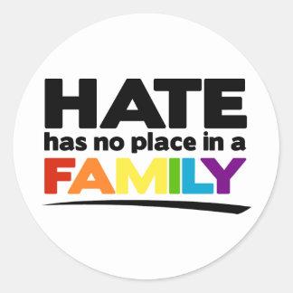 El odio no tiene ningún lugar en una familia pegatina redonda