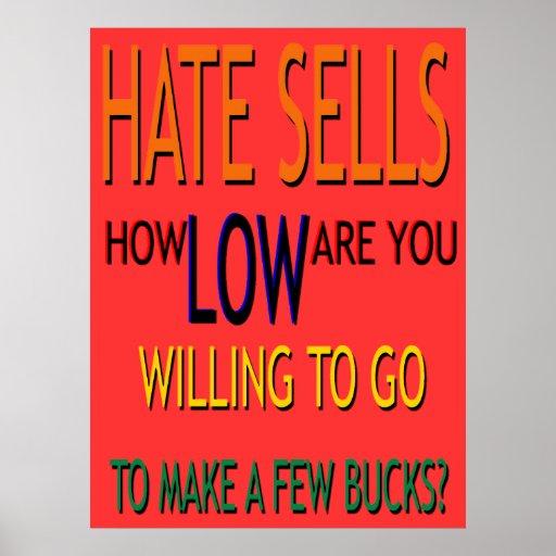 El odio vende el poster