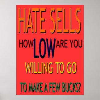 El odio vende el poster póster