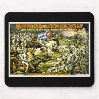 El oeste salvaje 1898 de Buffalo Bill Alfombrilla De Ratón