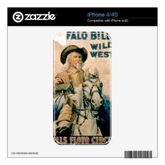 """El """"oeste salvaje de Buffalo Bill"""", circo de Floto Calcomanías Para El iPhone 4S"""