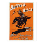 El oeste salvaje de Buffalo Bill Tarjeta Postal