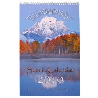 El oeste Untamed Calendario De Pared