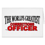 El oficial de las correcciones más grande del mund tarjeta