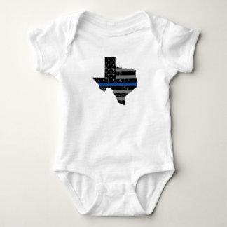 El oficial de policía de Tejas enrarece Blue Line Body Para Bebé