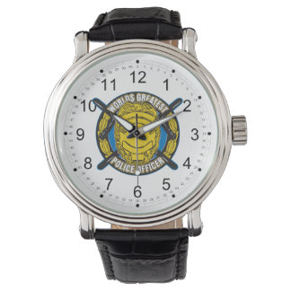 El oficial de policía más grande de los mundos relojes