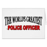 El oficial de policía más grande del mundo tarjeta