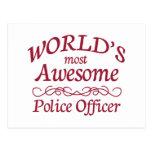 El oficial de policía más impresionante del mundo postal