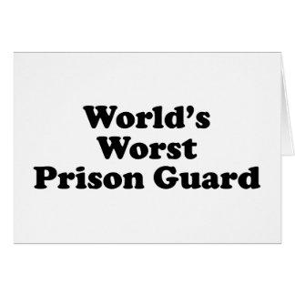 El oficial de prisiones peor del mundo felicitaciones