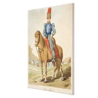 El oficial del Cossack, grabado al agua fuerte por Impresión En Lienzo