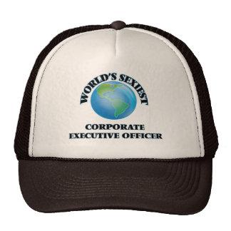 El oficial del ejecutivo empresarial más atractivo gorras