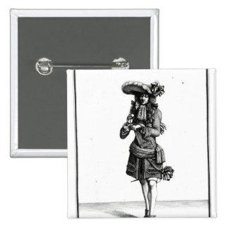 El oficial del rey, 1675 pin cuadrada 5 cm