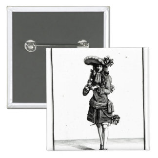 El oficial del rey, 1675 pin cuadrado