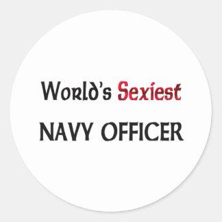 El oficial más atractivo de la marina de guerra de pegatina