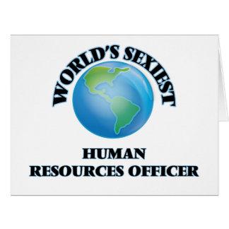 El oficial más atractivo de los recursos humanos tarjetón
