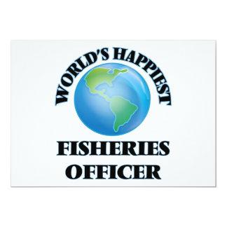 """El oficial más feliz de las industrias pesqueras invitación 5"""" x 7"""""""