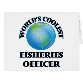 El oficial más fresco de las industrias pesqueras tarjeta de felicitación grande