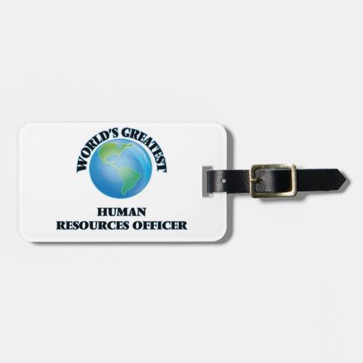 El oficial más grande de los recursos humanos del etiquetas maletas