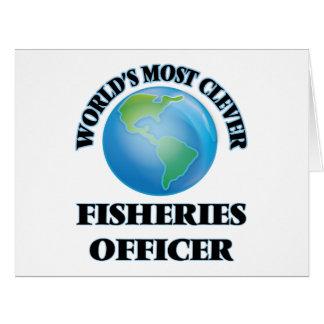 El oficial más listo de las industrias pesqueras tarjeta de felicitación grande