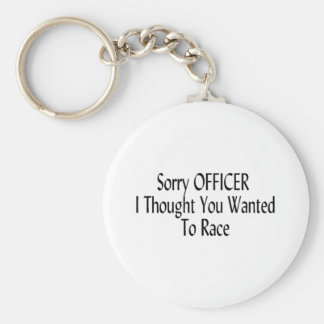 El oficial triste I pensó que usted quiso competir Llavero