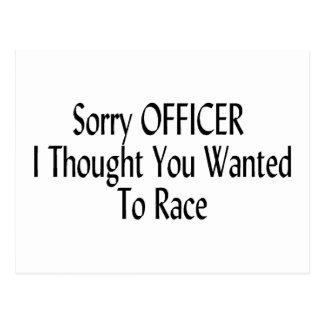 El oficial triste I pensó que usted quiso competir Postales
