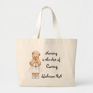 El oficio de enfermera es el arte de cuidar bolsas lienzo