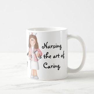 El oficio de enfermera es el arte de cuidar tazas