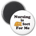 El oficio de enfermera es Purrr-fect para mí Iman Para Frigorífico