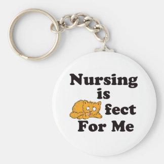 El oficio de enfermera es Purrr-fect para mí Llavero Redondo Tipo Pin