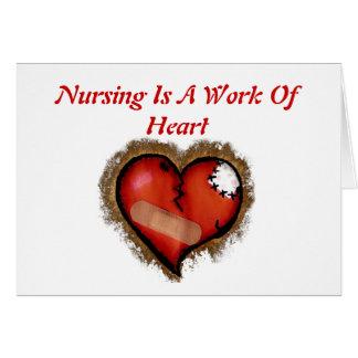 El oficio de enfermera es un trabajo de la tarjeta
