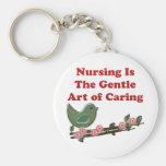 El oficio de enfermera está cuidando llaveros personalizados