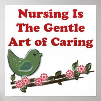El oficio de enfermera está cuidando póster