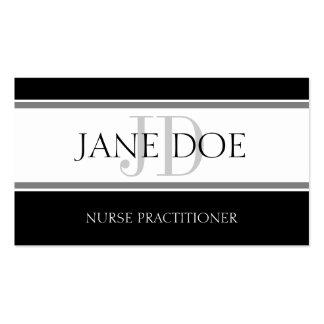 El oficio de enfermera raya blanco tarjeta de negocio