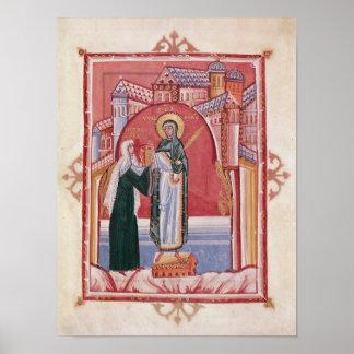 El ofrecimiento de Hilda de la abadesa Póster