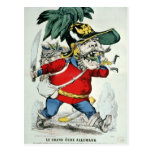 El ogro alemán gigante postal