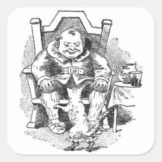 El ogro recibe el Puss en botas Pegatina Cuadrada