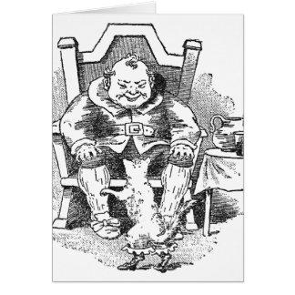 El ogro recibe el Puss en botas Tarjeta De Felicitación