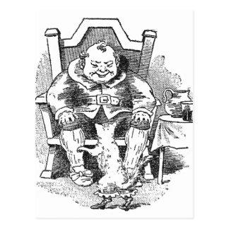 El ogro recibe el Puss en botas Tarjetas Postales