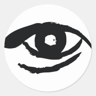 El ojo aclarado etiquetas redondas