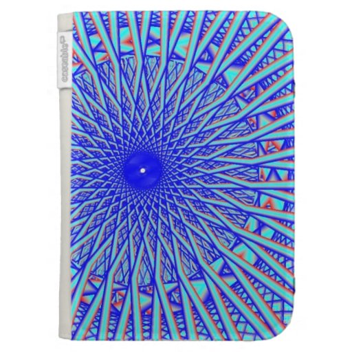 El ojo azul Caseable del fractal enciende el folio
