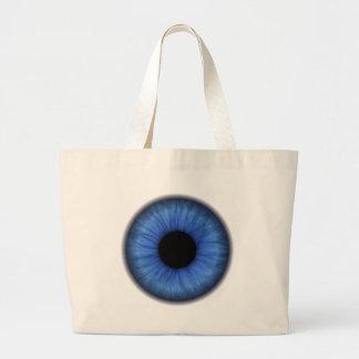 el ojo azul es lindo bolsa tela grande