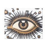 El ojo celestial del vintage protagoniza la luna lienzo envuelto para galerias