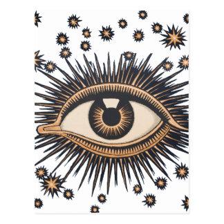 El ojo celestial del vintage protagoniza la luna postales
