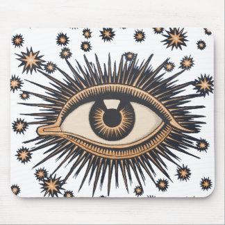 El ojo celestial del vintage protagoniza la luna tapetes de ratones