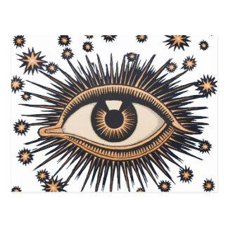 El ojo celestial del vintage protagoniza la luna tarjeta postal
