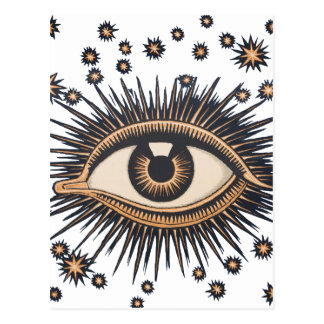 El ojo celestial del vintage protagoniza la luna tarjetas postales