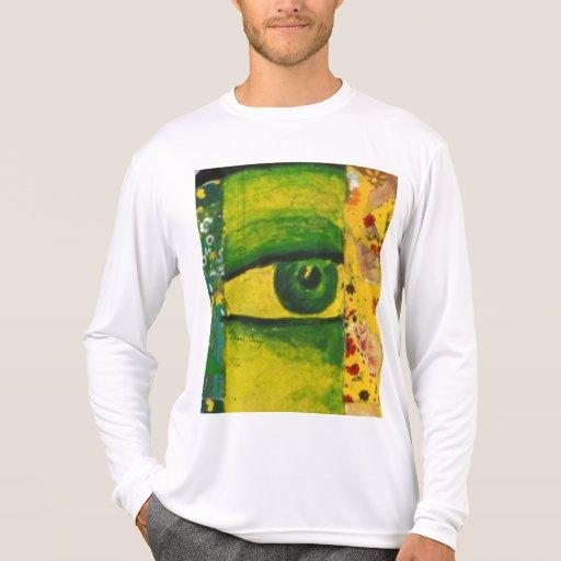 El ojo - conciencia del oro y de la esmeralda camiseta