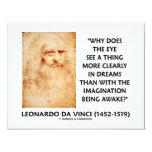 el ojo de da Vinci ve más claramente en sueños que Invitación 10,8 X 13,9 Cm